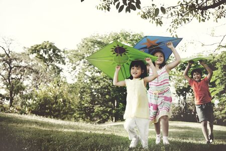 Group of Children Friends Play Happiness Concept