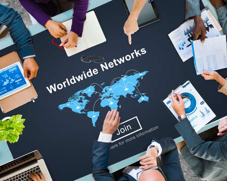 extensive: Worldwide Networks Global International Unity Concept Stock Photo