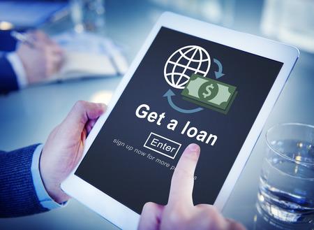 Loan Borrowing Budget Capital Credit Accounting Concept Stock Photo