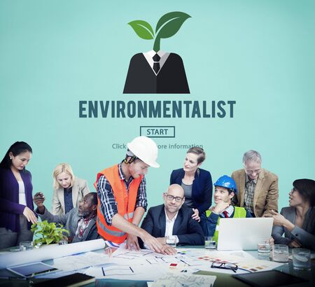 conservationist: Environmentalist Ecologist Nature Conservationist Concept