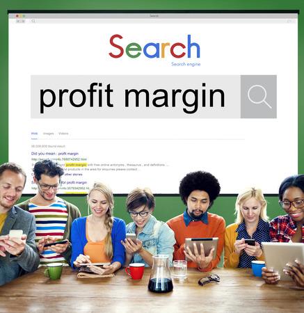margin: Concepto de relaci�n de margen de beneficio de los pagos del presupuesto de Contabilidad