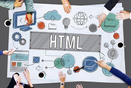 html: Homepage Domain HTML Web Design Concept
