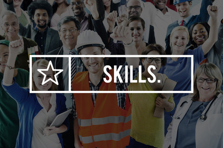 recruit: Skills Skill Talent Cleverness Professional Recruit Concept
