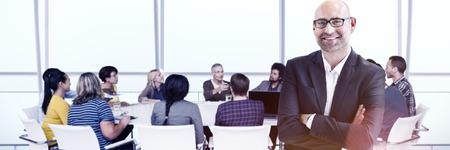 Geschäftsleute Treffen Führung Teamwork-Konzept