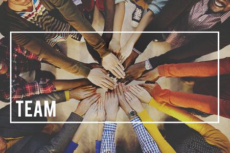 human hands: Team Teamwork Partnership Alliance Collaboration Concept
