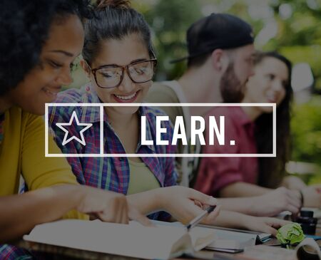 asian afro: Learn Learning Studying Education Knowledge Concept Stock Photo