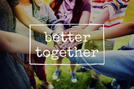 Better Together Vriendschap Gemeenschap Saamhorigheid Concept Stockfoto