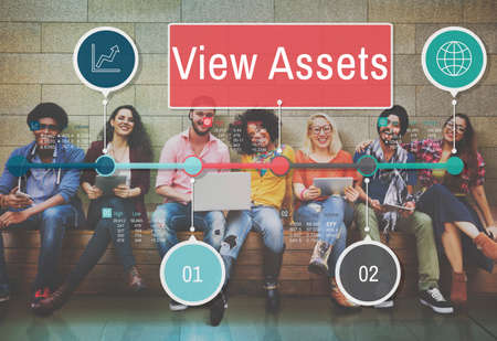 asian afro: View Assets Savings Investment Value Concept