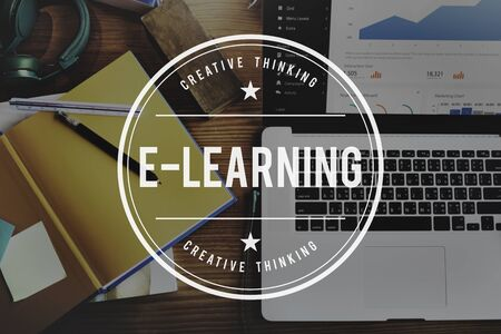 instructional: E-Learning Education Networking Study Sharing Concept