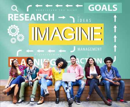 Imagine Imagination Research Goals Planning Concept Stock Photo