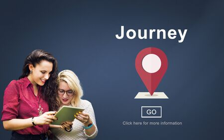 campus tour: Journey Exploration Holiday Road Trip Vacation Concept Stock Photo
