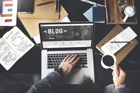 network concept: Blog Blogging Homepage Social Media Network Concept