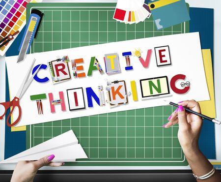 창조적 사고 아이디어 혁신 창의성 개념 스톡 콘텐츠