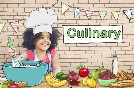 kulinarne: Gotowanie Kulinarne Gourmet pieczenia zdrowych dzieci Hobby Concept