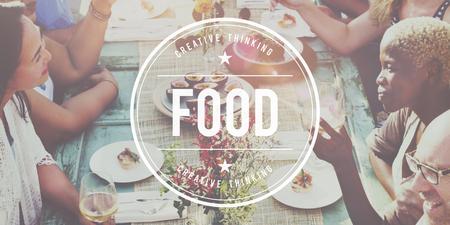 nourishment: Food Nourishment Cafe Calories Dining Restaurant Concept Stock Photo