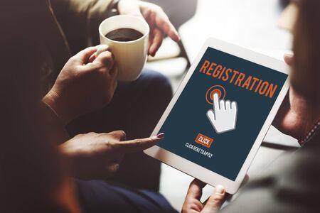 registry: Register Registration Enter Apply Membership Concept Stock Photo