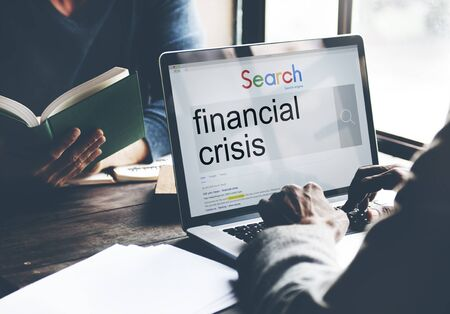 recession: Financial Crisis Depression Recession Downtown Concept Stock Photo