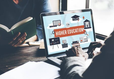 financial aid: Higher Education Academic Bachelor Financial Aid Concept Stock Photo