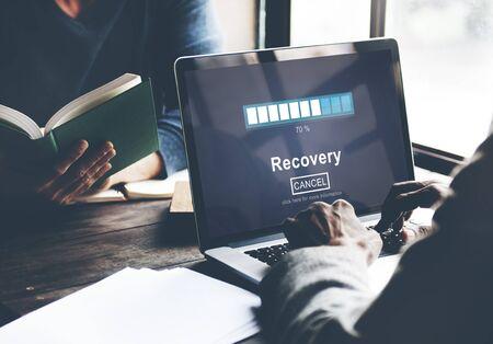 restoration: Recovery Backup Restoration Data Storage Security Concept Stock Photo