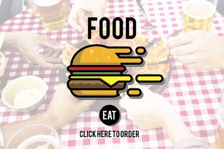 nourishment: Food Burger Dining Eating Nourishment Concept