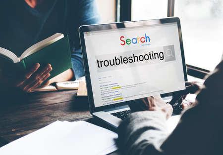 Troubleshooting Problem Solve Inspection Repair Concept