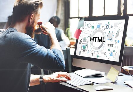 html: HTML Communication Interconnection Internet Networking Concept
