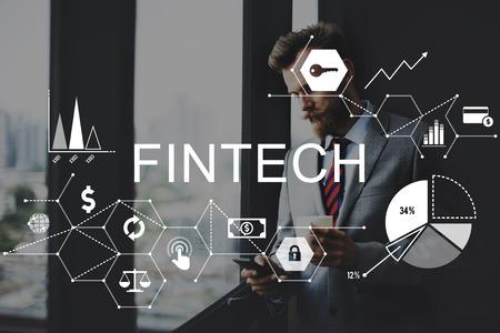 Fintech Financial Investment internet Concetto di tecnologia