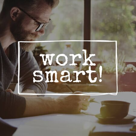 efficient: Work Smart Productively Effectively Efficient Concept