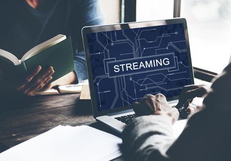 Streaming Online Internet Technology Concept Imagens