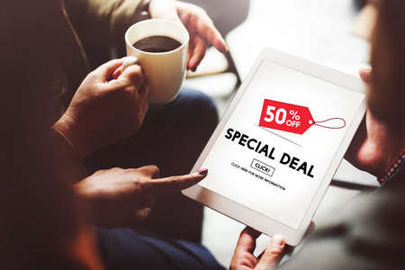 buy sell: Special Deal Advertising Commecial Marketing Concept Stock Photo