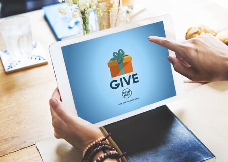 generosidad: Give Donate Generosity Giving Support Help Concept Foto de archivo
