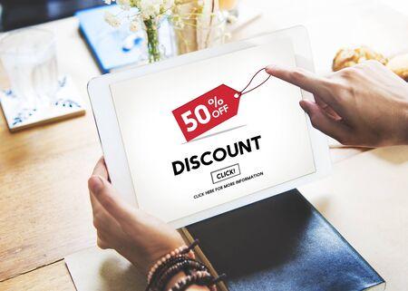 half price: Discount Half Price Marketing Promotion Consumer Concept