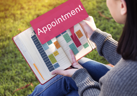 assigning: Appointment Appointing Arrangement Calendar Concept Stock Photo