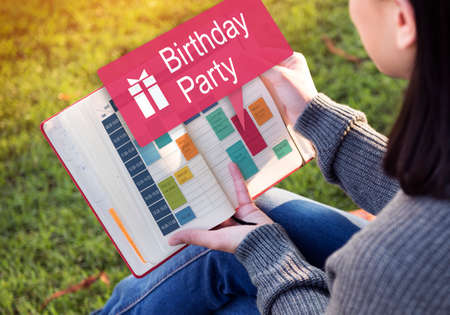 celebrate: Birthday Party Anniversary Celebrate Happiness Concept