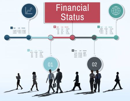 Financial Status Report Diagram Concept