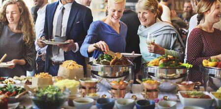 Brunch Wahl Crowd Essen Essen Optionen Essen Konzept Standard-Bild
