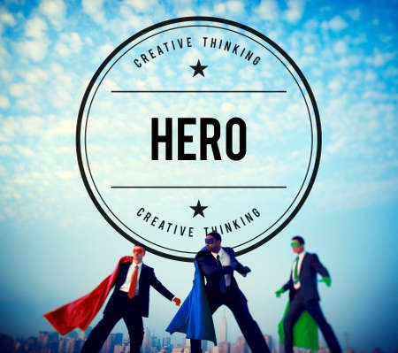 role: Hero Superhero Role Model Inspiration Leader Concept Stock Photo