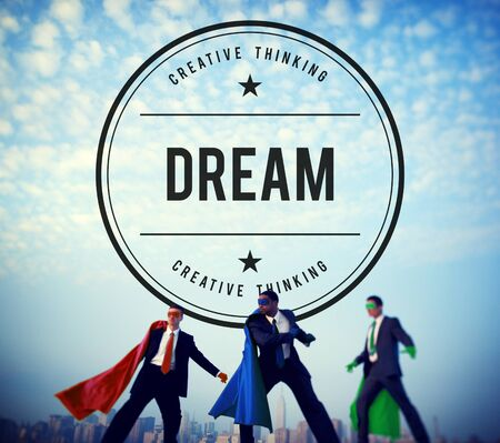 hopeful: Dream Dreamer Dreaming Goal Hopeful Target Concept Stock Photo
