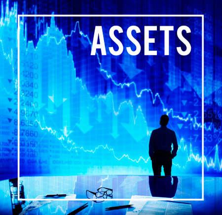 Assets Business Finance Gain Profit Concept