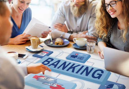 small business team: Banking Saving Money Management Account Concept Stock Photo