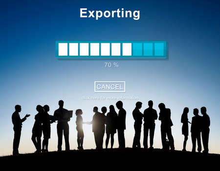 exporting: Exporting Convert Loading Progress Concept
