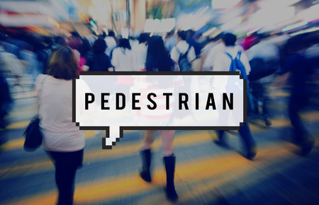uninspired: Group of People Pedestrian Rush Hour Concept