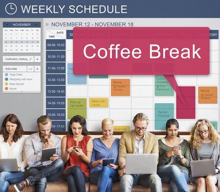 enjoyment: Coffee Break Enjoyment Relaxation Cafe Concept