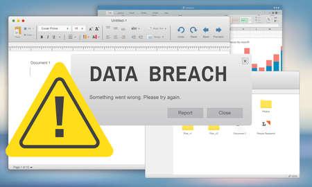 breach: Data Breach Security Confidential Cybercrime Concept