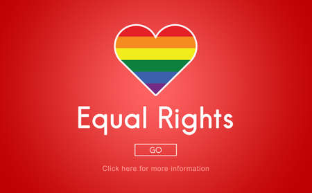 equal rights: Equal Rights Concept Stock Photo