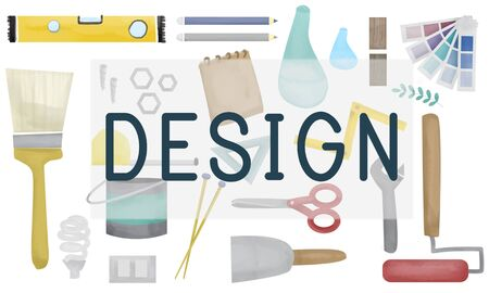 objective: Design Creative Draft Drawing Model Objective Concept Stock Photo