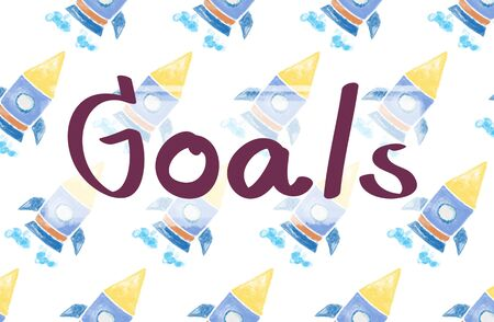 empezar: Launch Goals Startup Begin Target Concept Foto de archivo