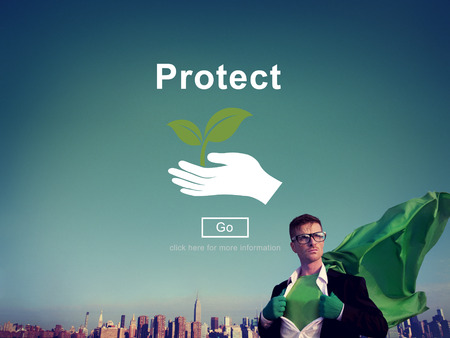 protect safety: Protect Saving Security Safety Prevention Protection Concept Stock Photo