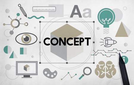 percepci�n: Concepto Plan de Percepci�n Noci�n Imagen creativa Intenci�n Foto de archivo