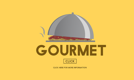 gourmet meal: Gourmet Cuisine Food Healthy Kitchen Meal Concept Stock Photo